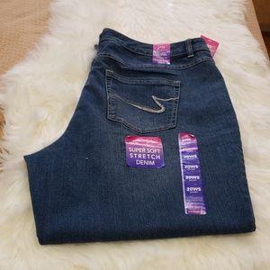 JMS Womens Classic Fit Denim Jeans 20W Short